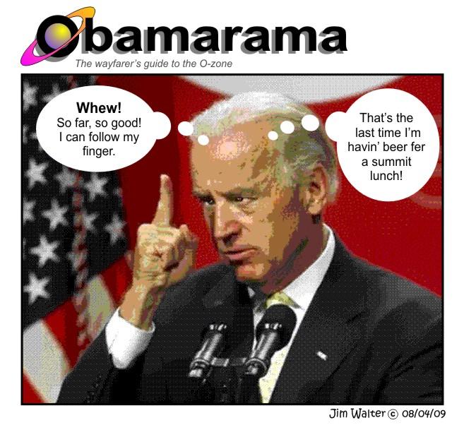 090801 - One Biden, one beer