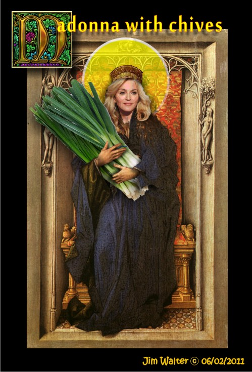 110522 - Madonna with Chives