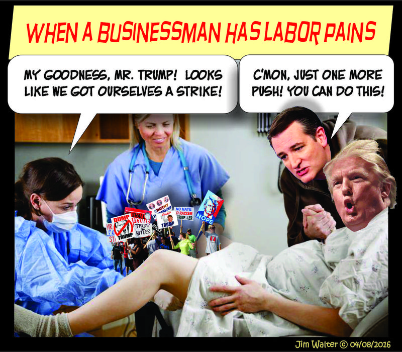 160408 - Trump Labor pains